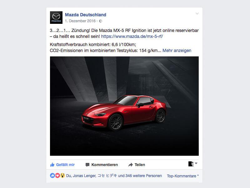 mazda mx-5 rf ignition vorverkauf / syzygy deutschland
